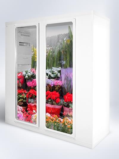 Flower Fridge Glazed Doors 1296x1730px